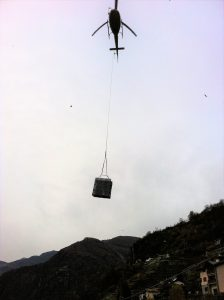 Chiavenna - Trasporto con elicottero